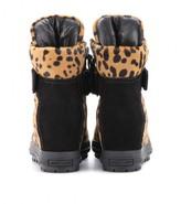 Miu Miu Calf hair concealed wedge sneakers