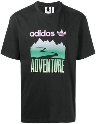adidas Adventure Mountain logo-print T-shirt