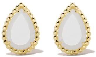 Boucheron 18kt yellow gold Serpent Boheme mother-of-pearl S motif teardrop stud earrings
