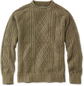 L.L. Bean Signature Rollneck Fisherman Sweater, Washed