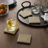 Crate & Barrel Set of 4 Blanco Sandstone Coasters