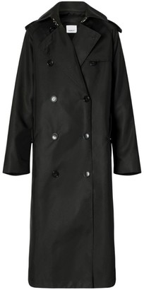Burberry Trench Coat With Detachable Leather Jacket