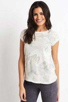 Free People White Printed Clare Tee - XS - White