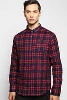 Boohoo Long Sleeve Brushed Check Shirt