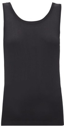 Sara Lanzi Scoop-back Knitted Top - Black
