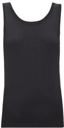 Sara Lanzi Scoop-back Knitted Top - Womens - Black