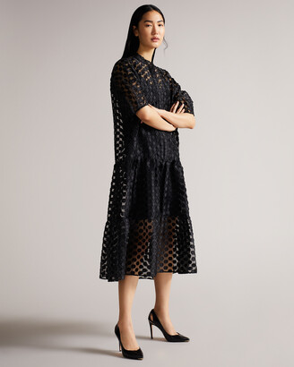 Ted Baker LATEFA Leather cut out heeled court shoes