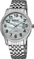August Steiner Men's ASA826SS Automatic Mother Of Pearl Bracelet Watch