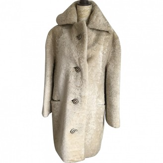BEIGE Non Signe / Unsigned Shearling Coat for Women