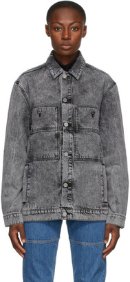 Études Black Guest Acid Wash Jacket