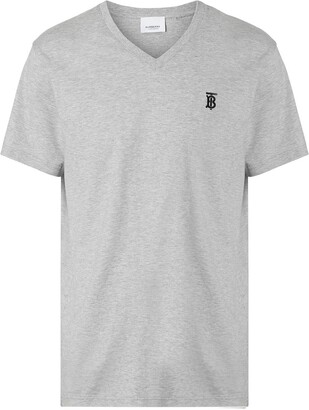 Burberry Monogram Motif Cotton V-neck T-shirt
