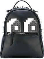 Les Petits Joueurs micro Mick Eyes backpack - women - Leather/Acrylic/Metal (Other) - One Size
