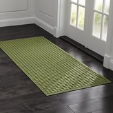 """Crate & Barrel Thirsty Dots TM Green 30""""x71"""" Doormat"""