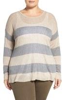 Eileen Fisher Plus Size Women's Stripe Round Neck Sweater