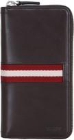Bally Tasyo Leather Zip Around Card Holder