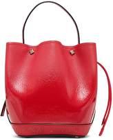 MCM Mini Milano Logo Leather Bucket Bag