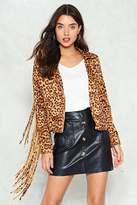Nasty Gal nastygal Run Wild Leopard Moto Jacket