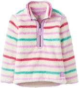 Joules Girls Merridie Multi Stripe Half Zip Fleece