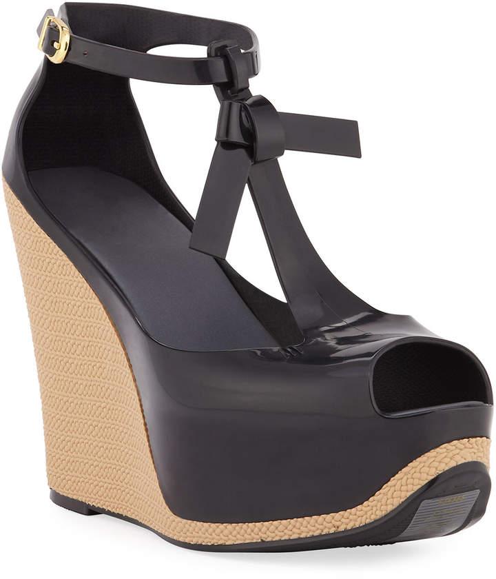 Pvc Melissa Platform Wedge Shoes Peace Sandals PkiXZuO