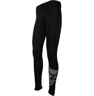adidas Mens Alphaskin Sport Badge Of Sport TECH-FIT Long Tights Black