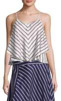 Joie Kenyon Double Striped Ruffle Camisole