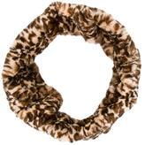 Anna Sui Leopard Print Infinity Scarf