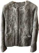 Suncoo Grey Rabbit Coat for Women