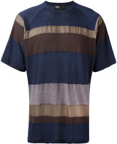 Kolor striped T-shirt - men - Cotton/Nylon/Cupro - 4