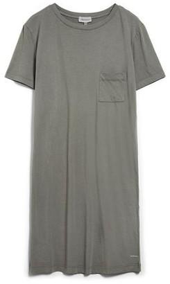 Armedangels Organic Cotton Long T-Shirt Dress in Khaki Grey - XS