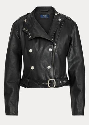 Ralph Lauren Belted Calfskin Jacket