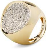 Antonini 18K Yellow Gold Matera Extra Large Pave Silvermist Diamond Ring