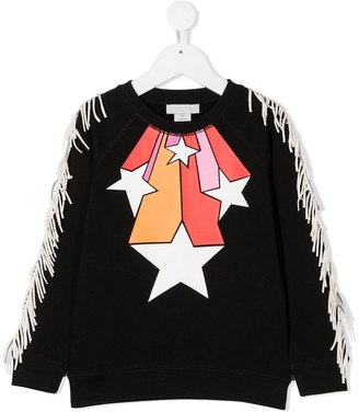 Stella McCartney Kids Fringed Star Print Sweatshirt