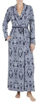Jonquil Stormy Skies Embroidered Robe, Slate Blue