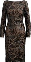 Ralph Lauren Sequined Jersey Dress