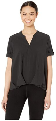 Royal Robbins Spotless Traveler Short Sleeve Top (Jet Black) Women's Blouse