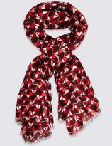 Marks and Spencer All Over Geometric Print Scarf