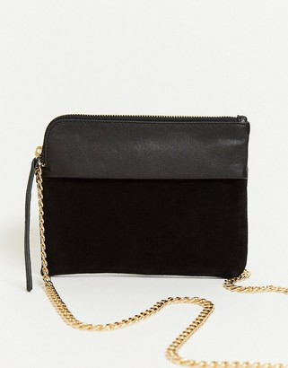 Urban Code Urbancode cross body pouck bag in leather and suede