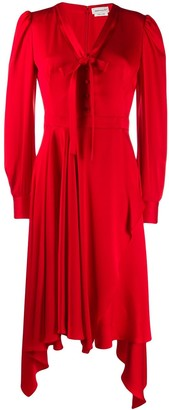 Alexander McQueen draped asymmetric dress