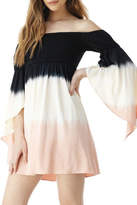 Sky Ombre Off-The-Shoulder Dress