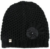 Twin-Set embellished knitted beanie - women - Acrylic/Wool - One Size