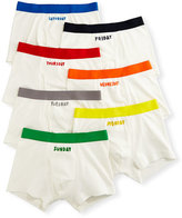 Stella McCartney Arthur 7-Day Monster Boxer Brief Set, White, Size 4-8