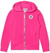 Converse Neon Pink Zip Hoodie