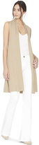 Alice + Olivia Tan Randi Long Vest