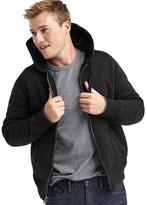 Gap Sherpa-lined zip hoodie