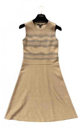 Louis Vuitton Camel Wool Dresses