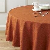"""Crate & Barrel Linden Sienna Orange 90"""" Round Tablecloth"""