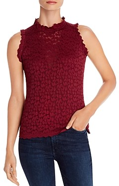 Red Haute Sleeveless Lace Top