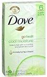 Dove Go Fresh Beauty Bar, Cool Moisture, 4 oz bars, 6 ea (Pack of 2)