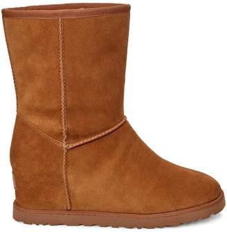 UGG Classic Femme Hidden Wedge Short Calf Boots - Chestnut