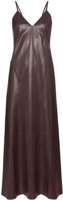 Nanushka Anira vegan leather slip dress